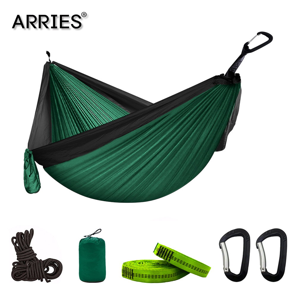 300*200cm Portable Camping Parachute Hammock Survival Garden Outdoor Furniture Leisure Sleeping Hamaca Travel Double Hanging Bed(China)