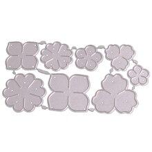 Diy углеродистая сталь Лепесток Форма-резак для украшений штампы ручной работы литья шаблон альбом для вырезок ремесло