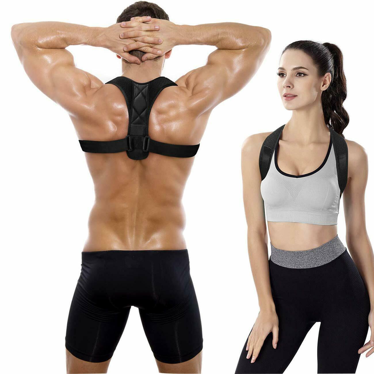 Posture Corrector Adult  Back Support Belt Corset Orthopedic Brace Shoulder Body Shaper Vest Corset  Posture Girdles Black S-XL