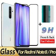 Front Glass + Back Film for Xiaomi Redmi Note 8 Pro Protective 2-in-1 redmi note Screen Protector redmi-note-8 3D glass