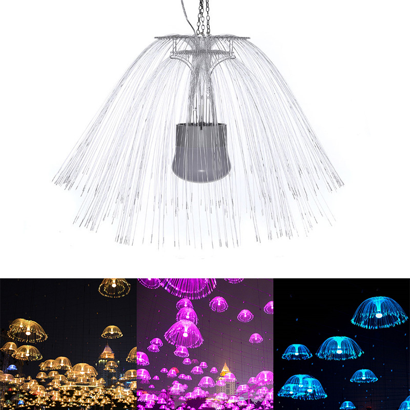 LED Jellyfish Night Light Illumination Lamp Color Bedside Led Optical Fiber Night Light 220V Novelty Baby Sleep Gift For Kids