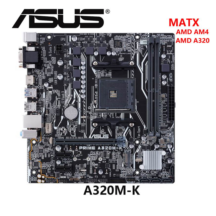 ASUS A320M K AMD AM4 ATX DDR4 Desktop Board Mainboard Motherboard|Motherboards| - AliExpress
