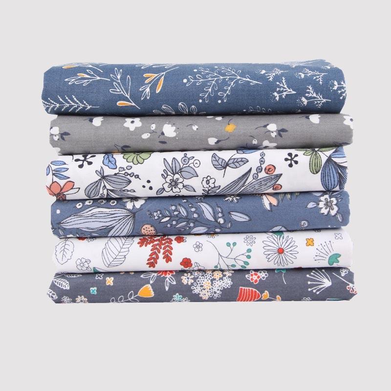 4 feuilles/5 feuilles/6 feuilles/paquet 20*25CM vêtements tissu imprimé fleuri tissu matériel coton bricolage à la main Patchwork fournitures de couture