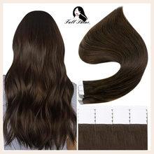 Extensiones de Cabello con cinta de moda brillante, cabello humano Real de 26