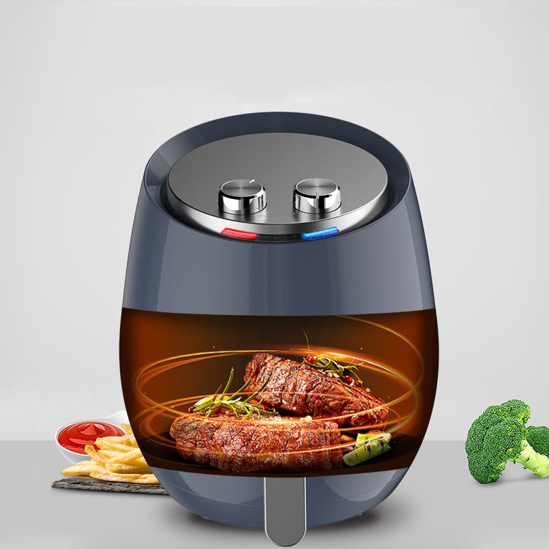 5.2L 1400W Oil Free Air Fryer Multipurpose Fries Frying Machine Intelligent Smoke-Free Oven Timing Temperature Control Cookware-