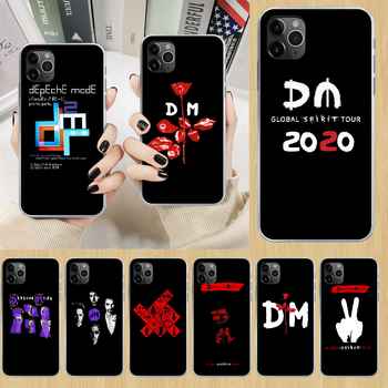 Depeches mode band DM Phone Case cover For iphone 5 5S 6 6S PLUS 7 8 12 mini X XR XS 11 PRO SE 2020 MAX transparent back 3D image