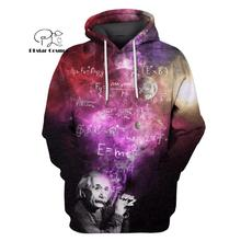 PLstar Cosmos Albert Einstein astronaut Starry sky 3d hoodies/shirt/Sweatshirt Winter autumn funny Harajuku Long streetwear