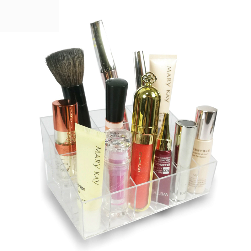 24 Grid Acrylic Transparent Lipstick Holder Makeup Organizer Storage Cosmetic Box Case Make Up Organizer Holder Display Stand