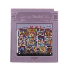 Pour Nintendo GBC carte de Console de cartouche de jeu vidéo 61 en 1 Compilation Version en langue anglaise
