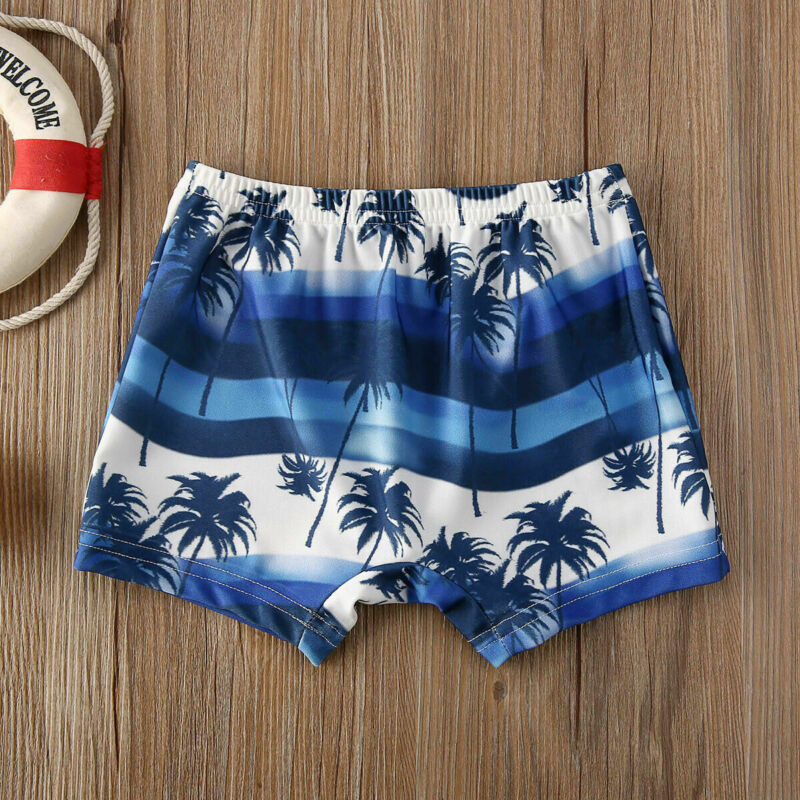 2020 Newest Arrival Summer Toddler Kids Baby Boy Floral Swimming Pants Beach Shorts Bottoms Panties Board Shorts 4