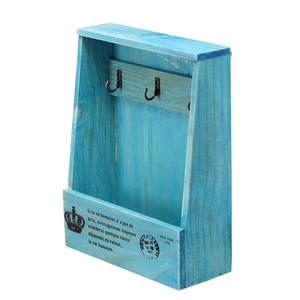 Image 4 - Retro Wandmontage Opbergdoos Houten Box Organizer Key Opknoping Haken Mail Opbergdoos Kleine Voorwerpen Plank Opknoping Mand