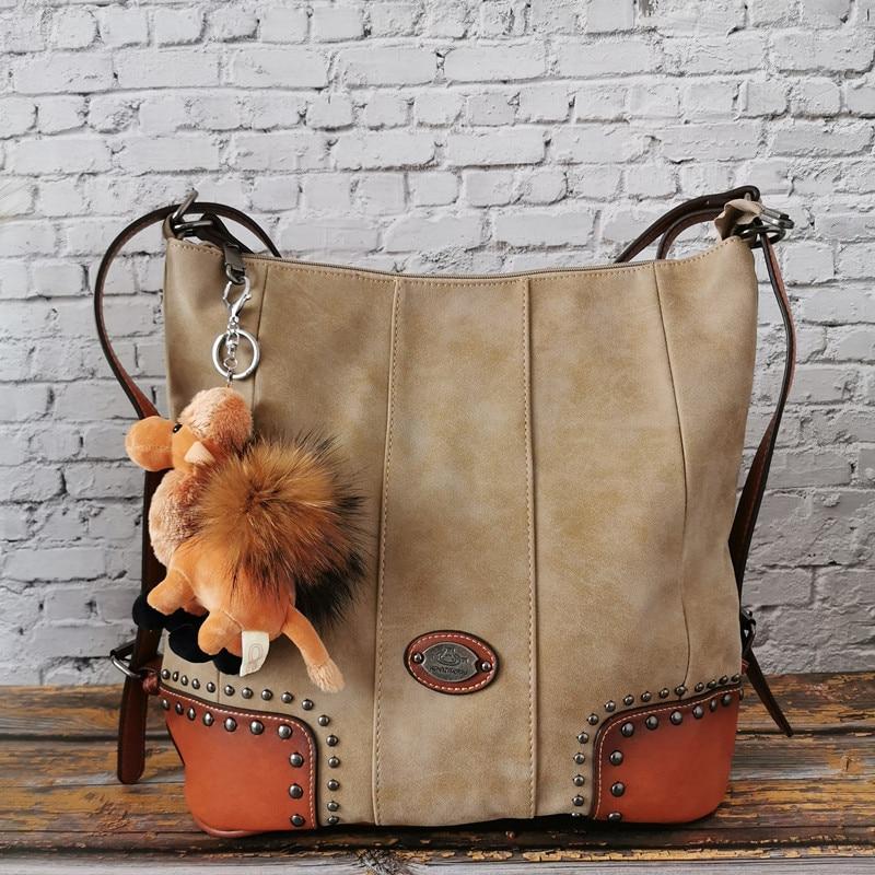 Vintage Genuine Leather Ladies Large Shoulder Messenger Bags Luxury Designer Women Handbag Quality Female Casual Tote for Travel