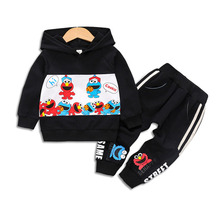 New Spring Autumn Baby Girl Clothes Children Boys Cotton Cartoon Hooded Pants 2Pcs/sets Toddler Fashion Costume Kids Tracksuits spring autumn baby clothes suit children boys girls cartoon pattern hooded toddler fashion casual clothing kids outing costume