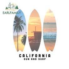 EARLFAMILY – autocollant de la vieille école, 13cm x 11cm, autocollant de personalité, de Surf de californie, de voiture, de dessin animé, étanche, pour pare-brise