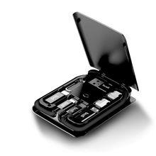 Cargador de teléfono inalámbrico portátil multifuncional luz LED Universal USB tipo C Cable de datos tarjeta adaptadora