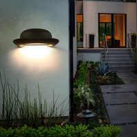 10 sztuk przejściach i korytarzach ściany lampa kapelusz kształt 12W LED na zewnątrz wodoodporny IP65 Wall światła ogród krajobraz oświetlenie dekoracyjne aluminium czapka z daszkiem
