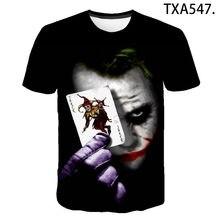 2020 New Summer Joker 3D T Shirts Casual Streetwear Boy Girl Kids Fashion Men Women Children Printed T-shirt Tops Tee