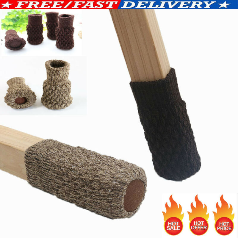 4Pcs//Set Table Chair Foot Leg Knit Cover Protector Socks Sleeve Protect Floor
