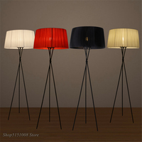 modern Creative floor light Iron tripod fabric lampshade simple standing lamp living room bedroom Table Lamp home deco luminaria