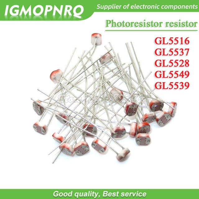 100 stücke fotowiderstand widerstand 5516 5537 5528 5549 5539 licht dependent resistor lichtempfindliche widerstand IGMOPNRQ