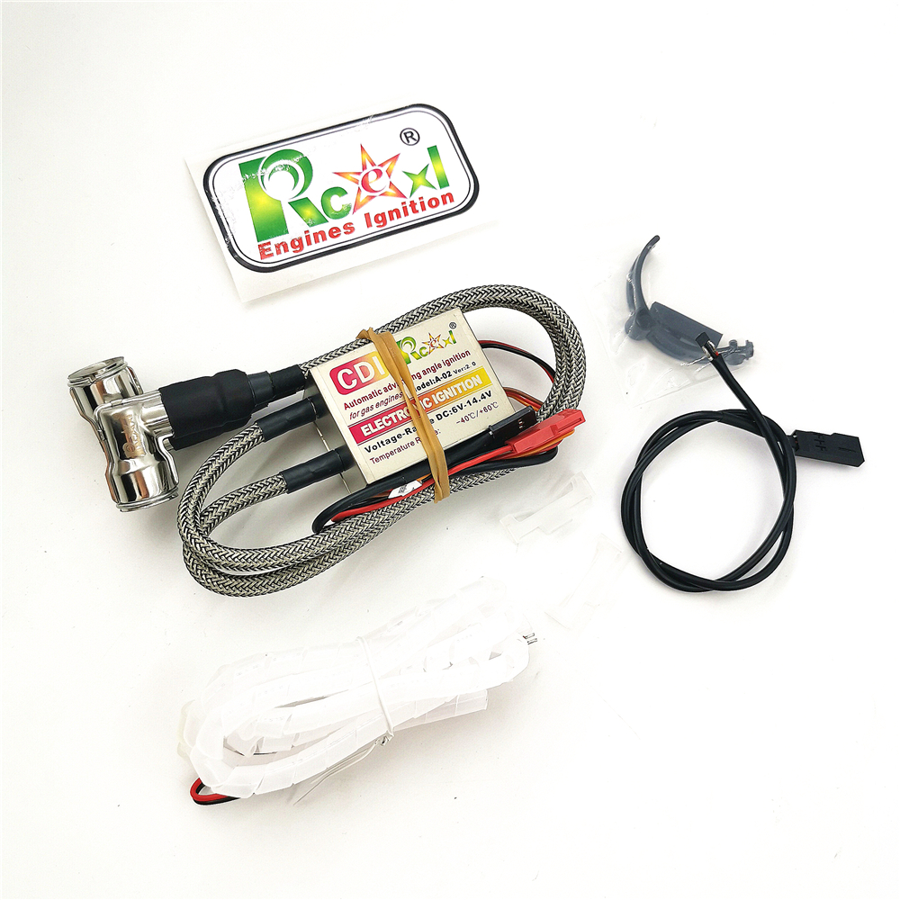 Rcexl Double Ignition CDI with CM6 plugs 90/120 degrees and Hall Sensor for straight/V type engines DLE111 engines Drone accesso
