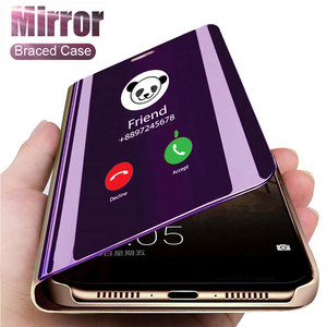 Smart Mirror Flip Case For Samsung Galaxy Note 20 A51 A50 A71 A31 A70 S9 S8 S20 FE 10 9 8 S10 Plus A21S A30s A81 A20 A30 Cover