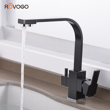 ROVOGO Drinking Water Kitchen Faucet, Dual Handle Kitchen Sink Faucet hot and Cold 3 Way Filter Kitchen Faucet Drinking Water