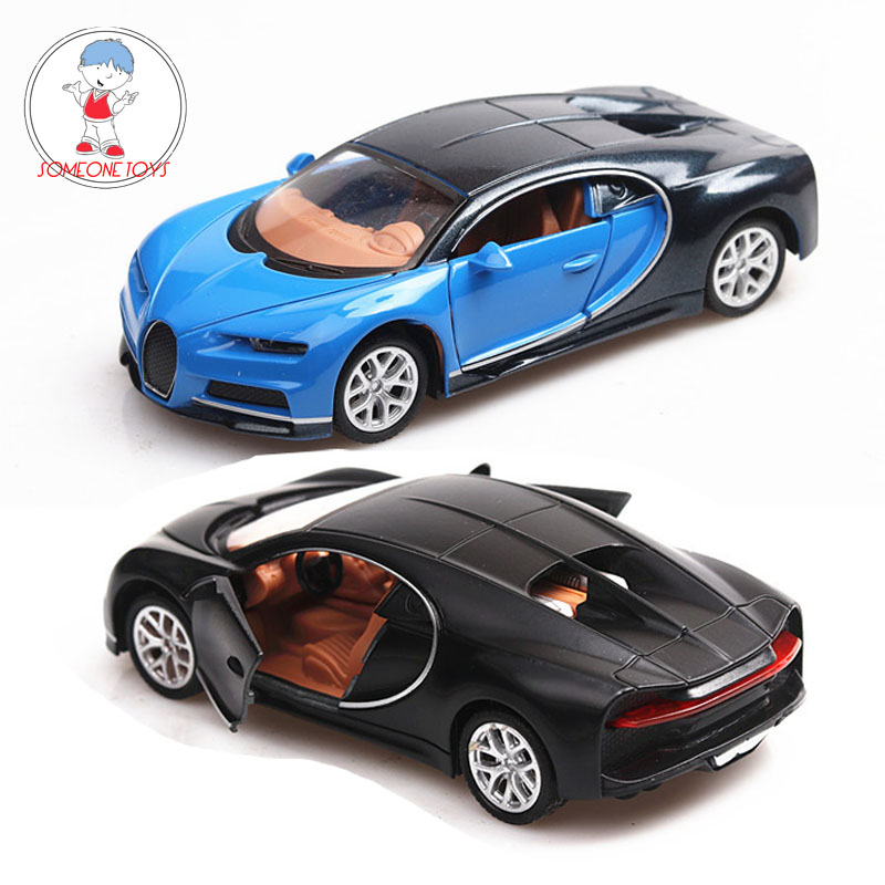 1/36 Scale Bugatti Chiron  Alloy Car Toys Pull Back Sports Car Model Diecasts Miniature Vehicles Toys For Children Kids Gift