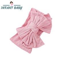 Baby Headbands For Girls Soft Nylon Bow Headband Elastic Children Turbans Kids Headwear For Baby Girl Hair Accessories