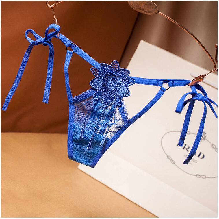 New Embroidery Sexy Thongs Lace Transparent Panties for Women Sexy Underwear Erotic Lingerie G String Open Crotch Briefs For Sex