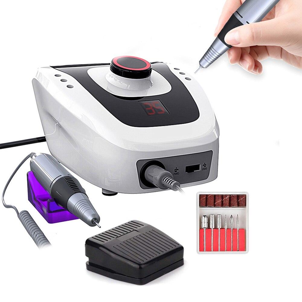 Electric-Nail-Drill-Machine Cutter Apparatus Art-Machine-Kit Pedicure 35000/20000 RPM