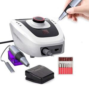 Image 1 - Máquina pulidora eléctrica para uñas, aparato para manicura y pedicura con cortador de uñas artístico, 35000/20000 RPM