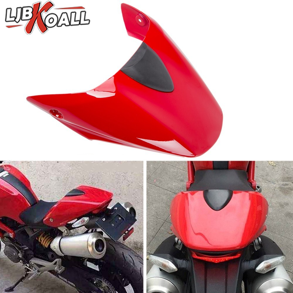 Motorcycle Rear Pillion Passenger Cowl Seat Back Tail Cover Fairing For 2009-2012 Ducati 696 795 796 Monster 1100 2010 2011 Red