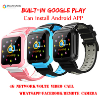 Smart 4G Remote Camera GPS WI FI Child Student Whatsapp Facebook Smartwatch SOS Video Call Monitor Tracker Location Phone Watch