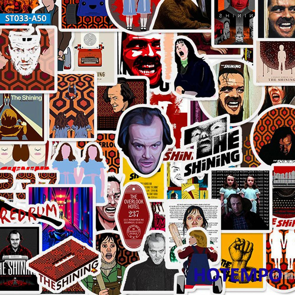 50pcs Horror Movie The Shining Sticker for DIY Mobile Phone Laptop Luggage Suitcase Skateboard Fixed Gear Decal Stickers in Stickers from Toys Hobbies