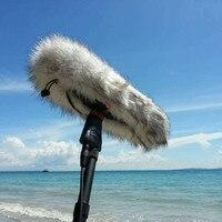 Outdoor Pelzigen Windschutz Windschutz Abdeckung Muff für Sennheiser MKH416-P48U3 Mikrofon Luftschiff Kit MKH416 MKH 416 Mic Deadcat