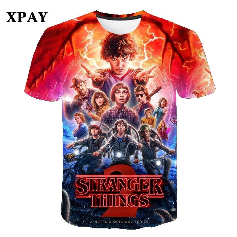 2020 summer men's stranger things T-shirts Funny short-sleeved children's fashion O-neck tshirt 3D Print Student trend clothing
