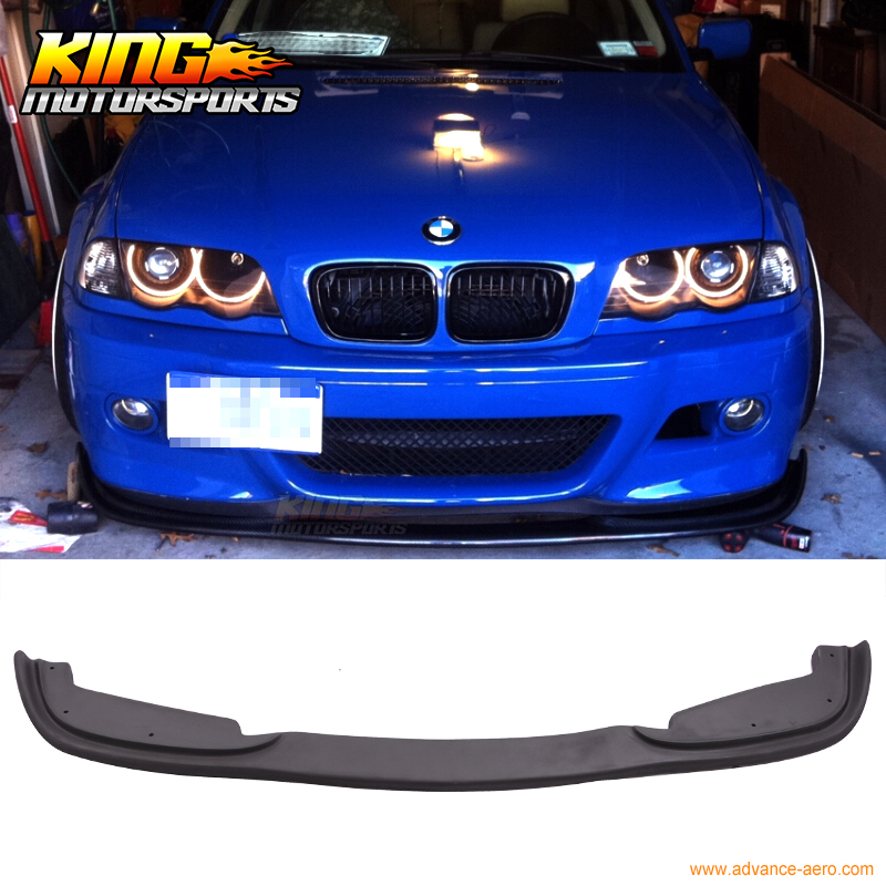 Fit For 99-06 <font><b>BMW</b></font> <font><b>E46</b></font> 3 Series 4DR H Style <font><b>Front</b></font> Bumper <font><b>Lip</b></font> For PP M Bumpers Only USA Domestic Free Shipping Hot Selling image