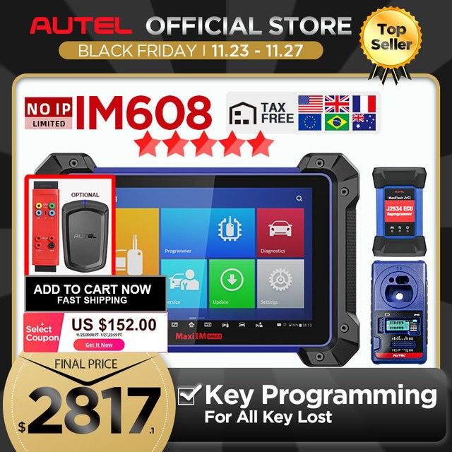 Autel IM608 MaxiIM 608 OBD2 tarayıcı OBDII araba otomatik teşhis aracı OBD 2 tüm sistem anahtar programlama PK IM508 anahtar programcı
