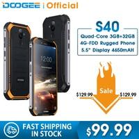 Cep telefonları ve Telekomünikasyon Ürünleri'ten Cep Telefonları'de DOOGEE S40 4 GNetwork Sağlam Cep Telefonu 5.5 inç Ekran 4650 mAh MT6739 Dört Çekirdekli 3 GB RAM 32 GB ROM Android 9.0 8.0MP IP68/IP69K
