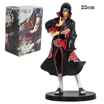 NARUTO Anime Uchiha Itachi Action Figure Toys Uchiha Sasuke Brother Naruto Sharingan Figurines Collectible Model Toys Gift 22 CM
