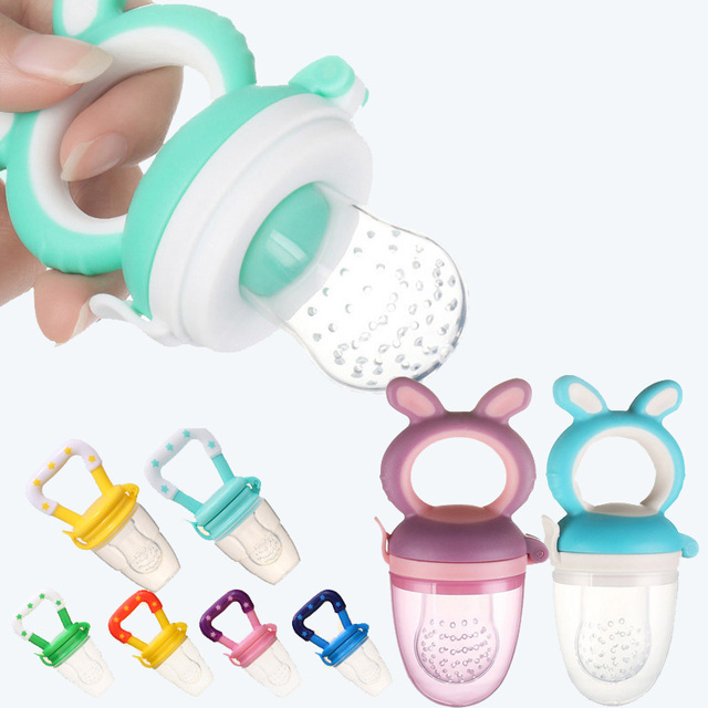 Baby nipple Fresh Food Nibbler Baby Pacifiers Feeder Kids Fruit feeding nipple Safe Supplies Nipple Teat Pacifier Bottles 1