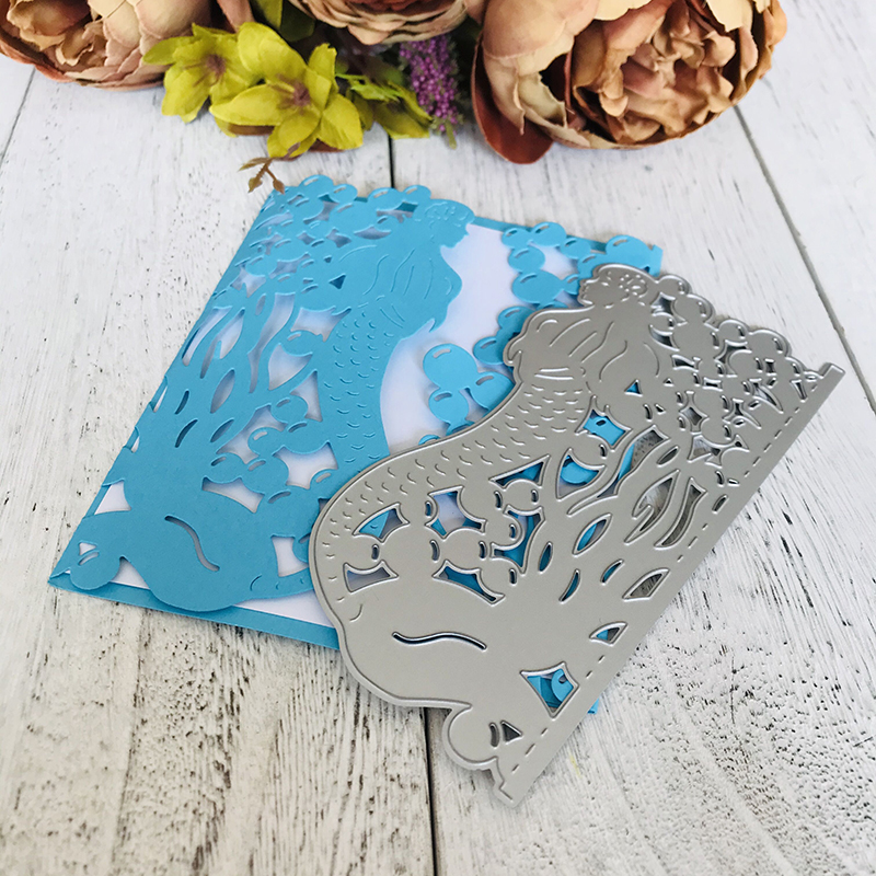 metal cutting dies Craft  cut die mold Ocean mermaid decoration Scrapbook paper craft knife mould blade punch stencils dies-5