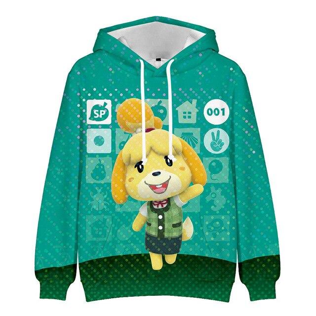 Fashion Men 3D Hoodies for Game Animal Crossing: New Horizons Cosplay Hoodie Unisex Hooded Coat Casual Sweatshirts
