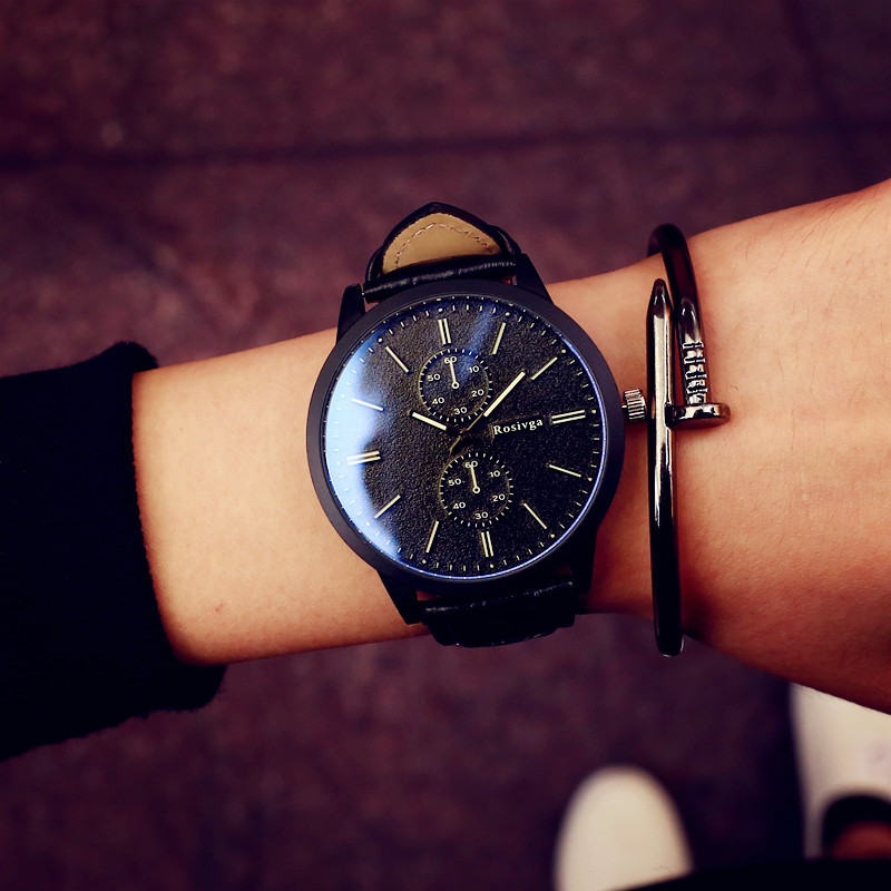 Fashion School Style Couple Watches Quartz Wrist Watches For Women And Men Leather Band Alloy Case Couple's Clock Relojes Pareja