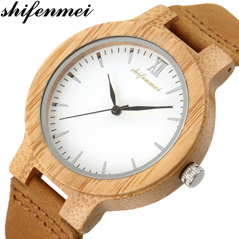 Shifenmei Wooden Watch Couple Watches Men Clock Male Full Bamboo Wood Bracelet Quartz Wristwatch Gift For Man Women Luxury 5512