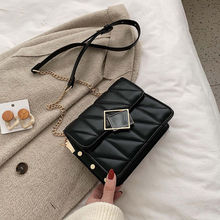 Women Bags Wallets Chain Fashion Solid PU New