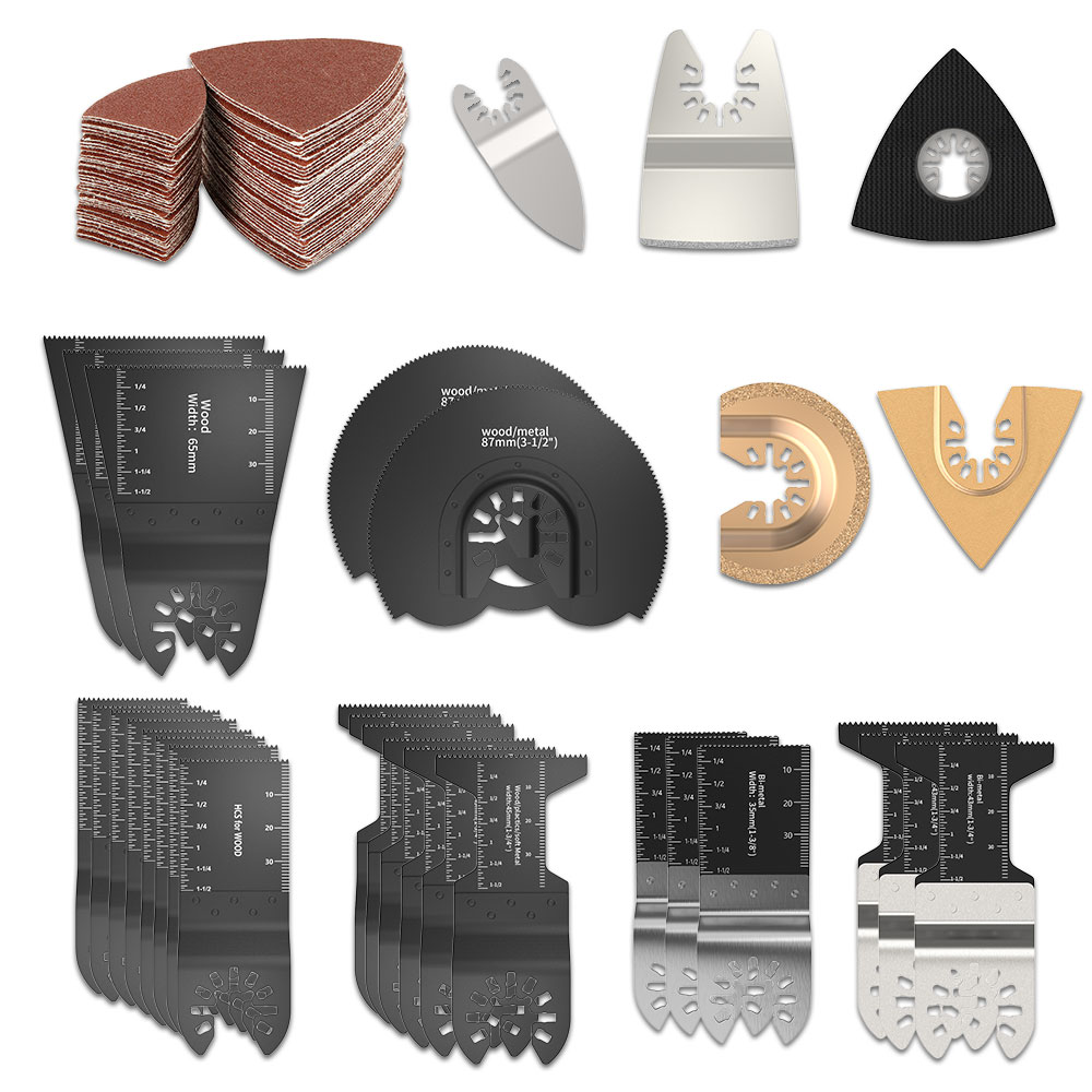 108PCS Oscillating Multi Tool Saw Blades Kit Set For Renovator Power Tools As Fein Multimaster Dremel Electric Tools Accessories