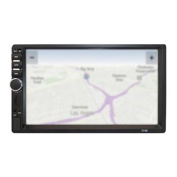 7 Inch Double 7018B 2 DIN Car FM Stereo Radio MP5 Player TouchScreen Multimedia player 4 Light Camera image