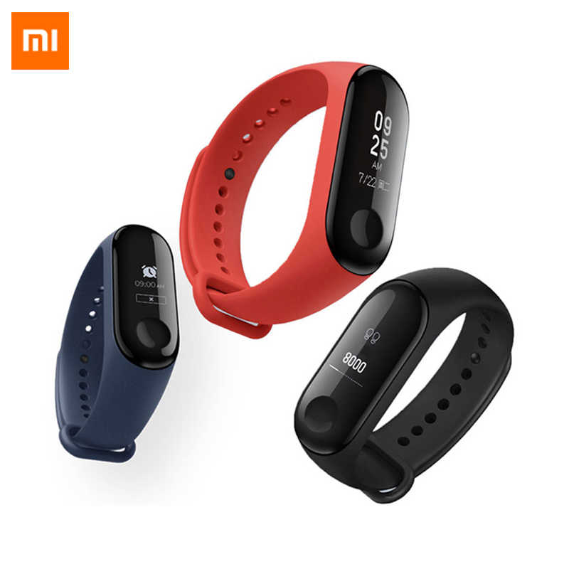 Globale Version Xiaomi Mi Band 3 Smart Armband Großen Touchscreen OLED Fitness Armband MiBand 3 Nachricht Herz Rate Smartband